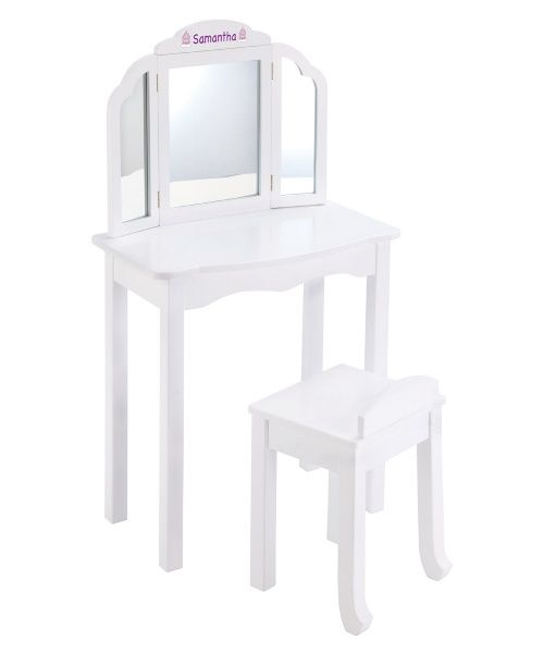 Guidecraft Expressions White Vanity with Personalization - Kids Bedroom Vanities at Hayneedle