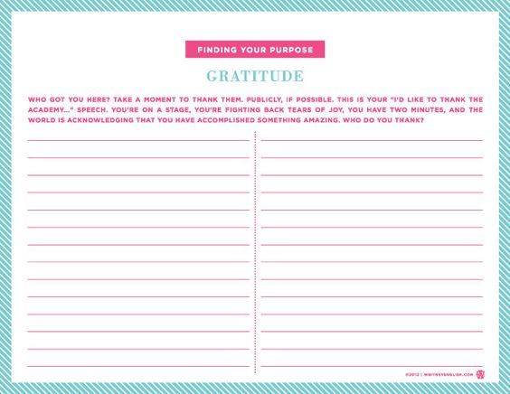 Gratitude worksheet have one at teach table or hand one around – Gratitude Worksheets