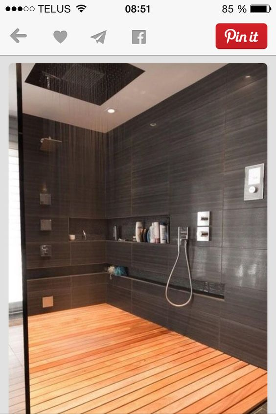 Immense Douche C Ramique Charcoal Salle De Bain Pinterest Mad Re Terrasses Et Charbon
