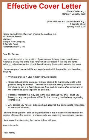 How To Write A Cover Letter | Job cover letter, Effective ...