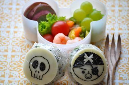 海賊と骸骨のお弁当