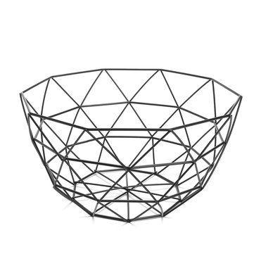 Geometric Metal Wire Decoration Storage Display Basket Display