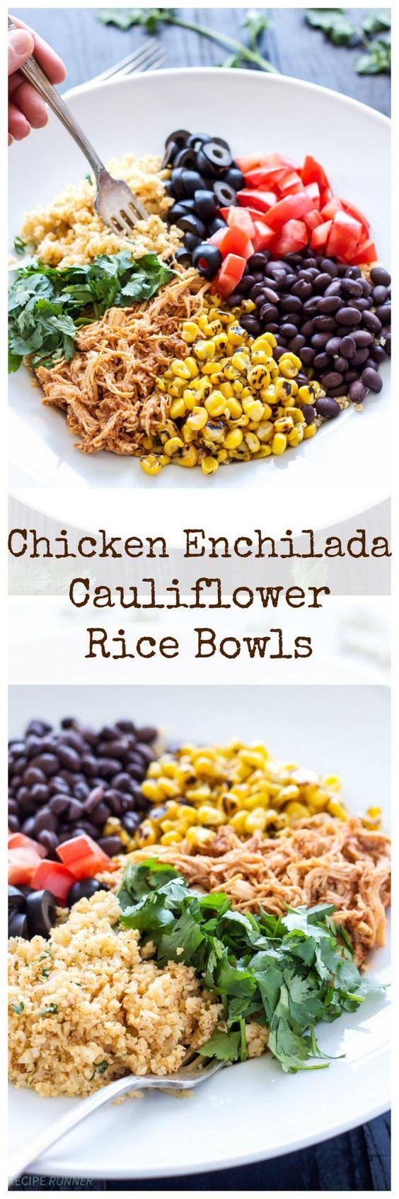 chicken enchiladas places beans mexicans rice cauliflower rice chicken ...