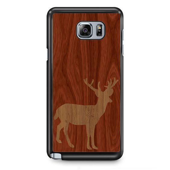 Wood Deer TATUM-12041 Samsung Phonecase Cover Samsung Galaxy Note 2 Note 3 Note 4 Note 5 Note Edge