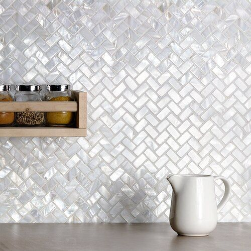 Pacif 0 39 X 0 79 Seashell Random Mosaic Wall Floor Tile In 2021 Shell Mosaic Tile Pearl Backsplash Shell Mosaic