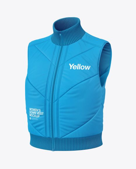 Download Download Women S Down Vest Mockup Psd Clothing Mockup Down Vest Climbing Clothes