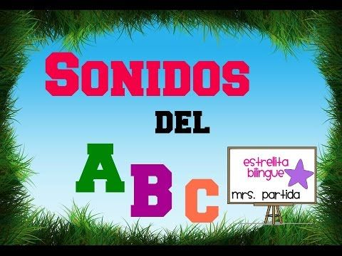 Sonido de las letras del abecedario - Alphabet letter sounds in Spanish