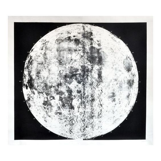 Image of Unframed Silk-Screened Moon