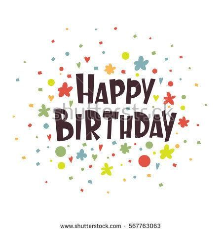 Greeting card Happy Birthday. Vector illustration