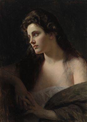 """""""Damenbildnis"""" von Albert Ritzberger (geboren am 20. Mai 1853 in Pfaffstätt…"""