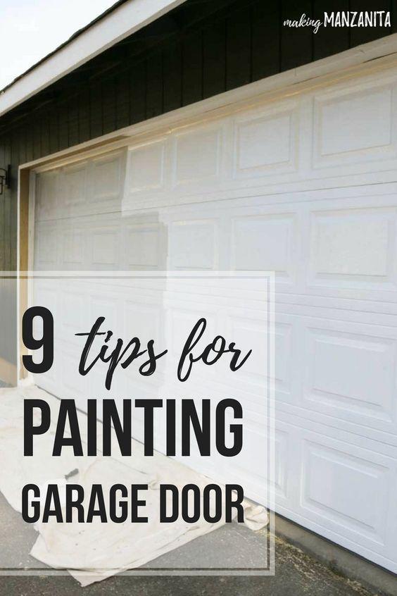 Painting Garage Door Easy Way To Instantly Improve Curb Appeal In 2020 Garage Door Paint Garage Doors Diy Garage Door