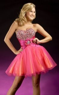 Buy Ball Gown Sweetheart Short Organza Prom Dresses / Homecoming Dresses / Sweet 16 Dresses Shop 2015