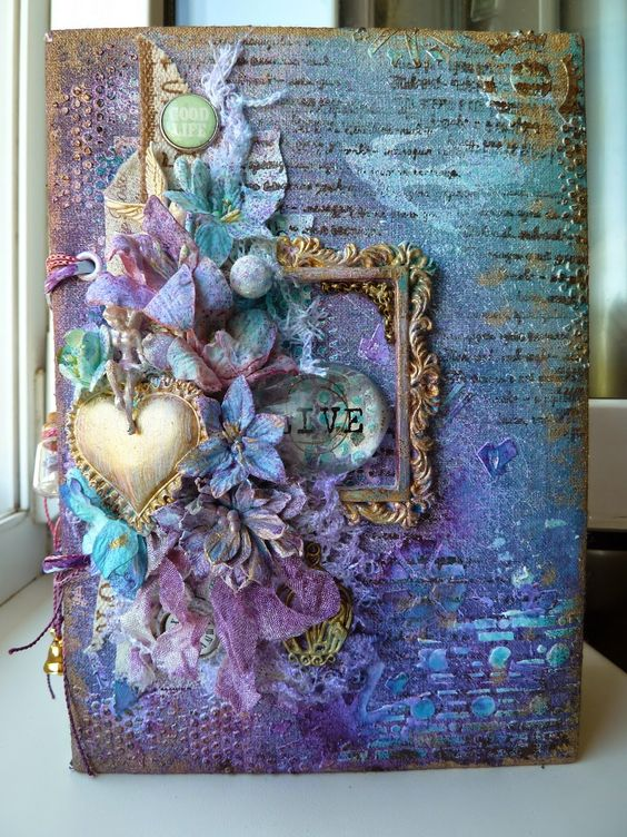 Mixed media journal, Mixed media and Altered books on ...