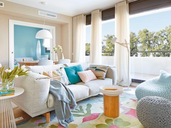 Decoracion fresca y luminosa. Ponle color a tus interiores - Blog decoración y Proyectos Decoración Online