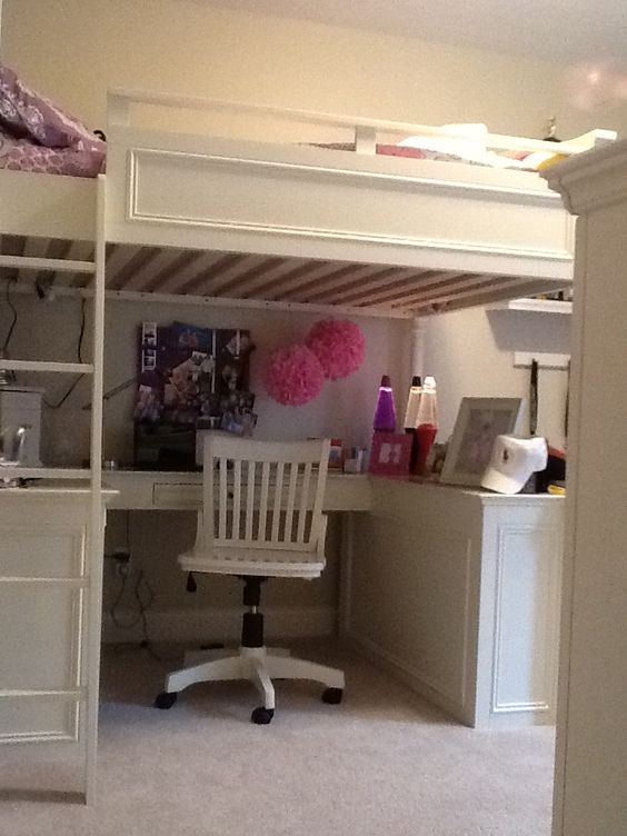Pb teen loft bed in erin 39 s room princess erin - Loft and roomers ...