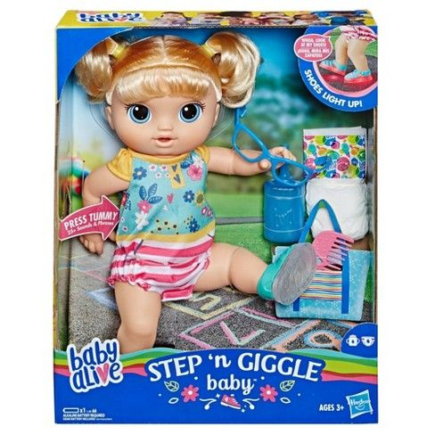 Baby Alive Step N Giggle Baby Blonde Hair Baby Alive Baby Alive Dolls Baby Blonde Hair