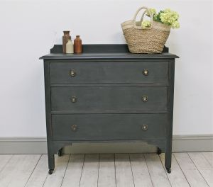 Distressed Painted Three Drawer Chest. - For Sale | Distressed But Not Forsaken