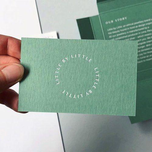 White Foil Blocking On Keaykolour Matcha Tea Arjocreatives Paper Business Cards Printed Fo Fashion Business Cards Foil Business Cards Printing Business Cards
