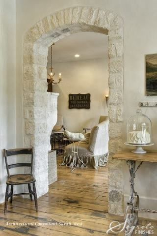 easy way to incorporate some stone -- love this doorway