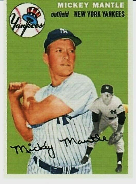 Mickey Mantle 1954 Topps Reprint The Card That Never Was Variation 254 Newyorkyankees Mickey Mantle Mantle New York Yankees