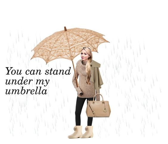 """""""Umbrella"""" by vale14m ❤ liked on Polyvore featuring Calvin Klein, Dizzy, Burberry, MICHAEL Michael Kors and rainydaylook"""