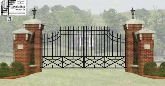Estate entry gates digital estimate drawings for massive estate entrance gate gates and - Entrance gate designs for home ...