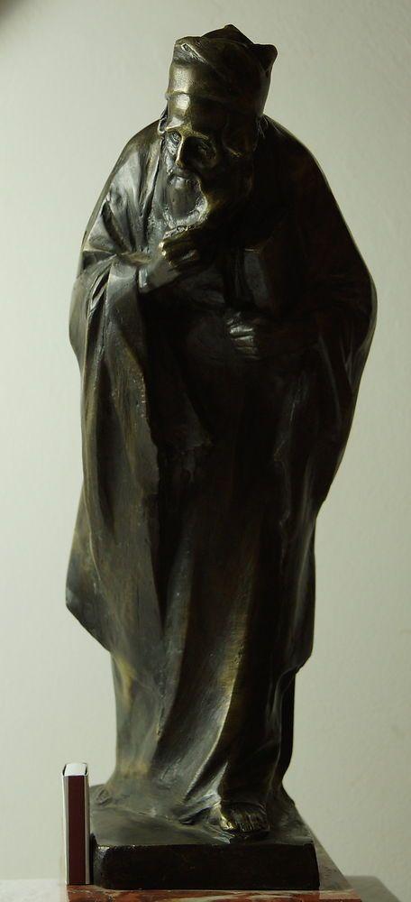 Friedrich Gornik, Nathan der Weise, Bronze, sehr groß, 9,9 kg, Arthur Rubinstein