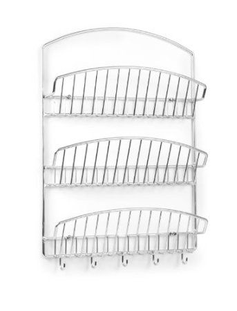 Amazon.com: Spectrum 31770 Pantry Works 3-Tier Wall Mount Letter Holder, Chrome: Home & Kitchen