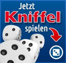 """Klicke auf """"Kniffel spielen"""". Wenn du alleine spielst, musst du dich nicht registrieren."""