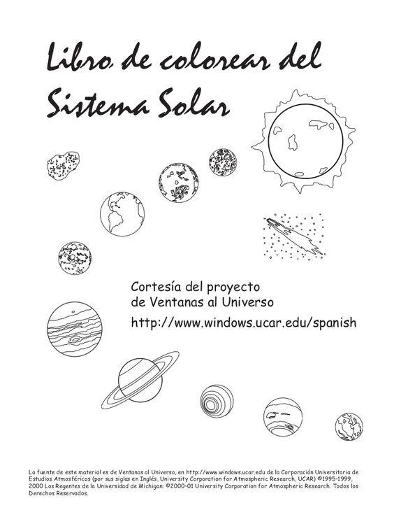Libro de colorear del sistema solar by Manoli Mover