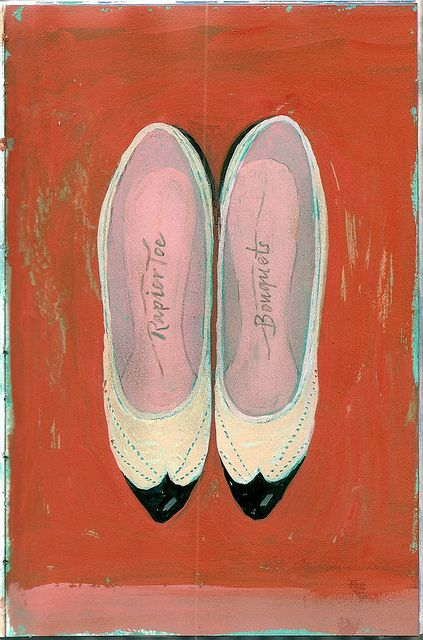 vintage shoes - painting Marion de Man by bisybackson, via Flickr