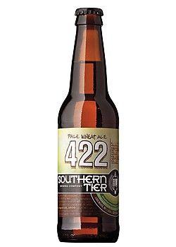 Cerveja Southern Tier 422 Pale Wheat Ale, estilo American Wheat/Rye, produzida por Southerntier Brewing, Estados Unidos. 5.8% ABV de álcool.