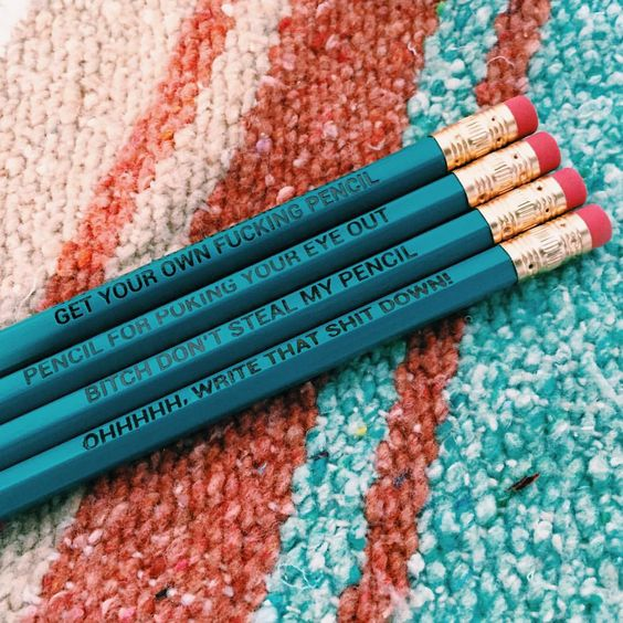 """""""SURPRISE!!! Get a ✨FREE✨ JV pencil set with every order over $40 on JACVANEK.COM this weekend!!! You didn't think you'd make it through the weekend…"""""""