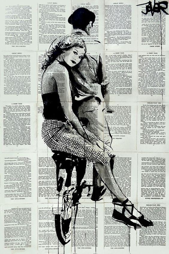 Loui Jover (Australia, 1967). Pintor e ilustrador Collages de emociones en tinta.