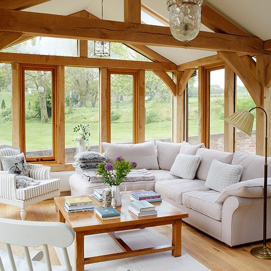 Living room with stunning garden views living room for Country interior designs