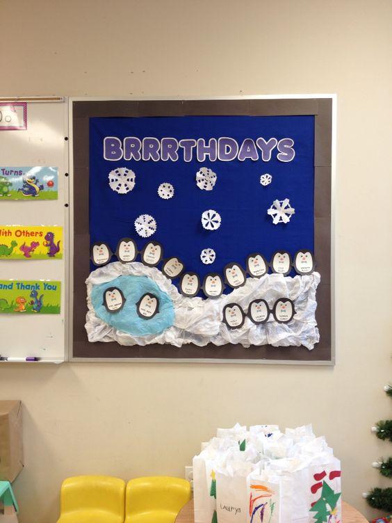 Winter Classroom Idea : Winter birthday bulletin board idea what i have done