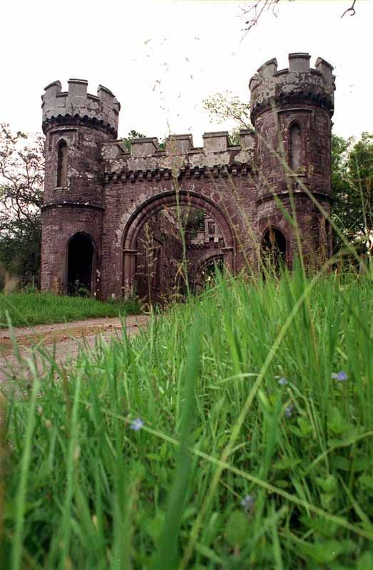 Abandoned Scotland   The abandoned gatehouse at Monzie Castle near Crieff . #travel