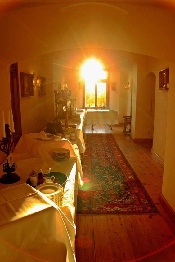 Zauberhafte Morgenstimmung auf Schloss Berlepsch.
