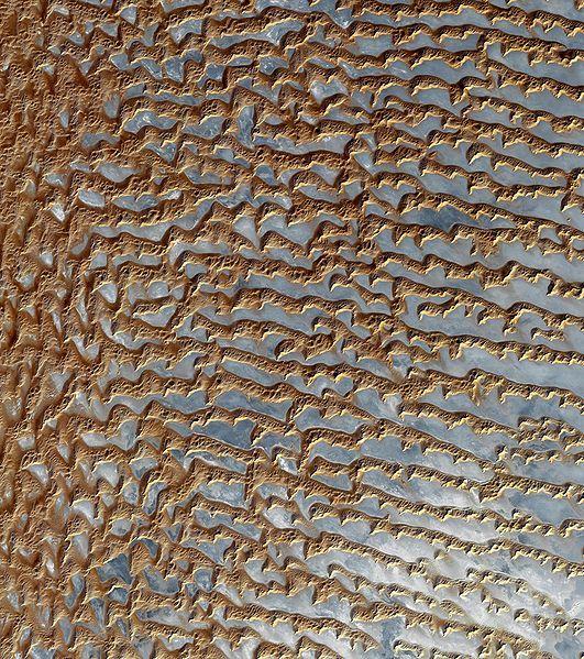 Rub' al Khali (Arabian Empty Quarter) sand dunes imaged by Terra (EOS AM-1)