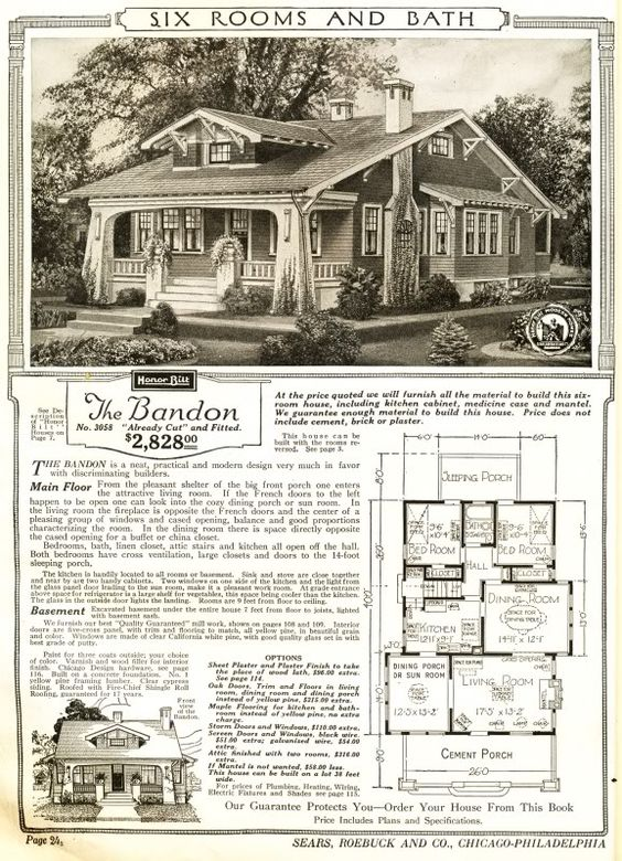 the bandon was a sears craftsman bungalow mail order house 1915 1920 identical floor plan but. Black Bedroom Furniture Sets. Home Design Ideas