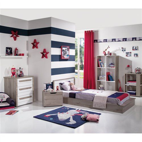 lit transformable kirsten blanc ch ne gris de b b lune. Black Bedroom Furniture Sets. Home Design Ideas