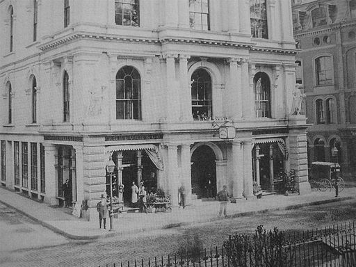 Horticulture Hall in Boston, 1870. This building inspired the Wimplegate's Auction House.: