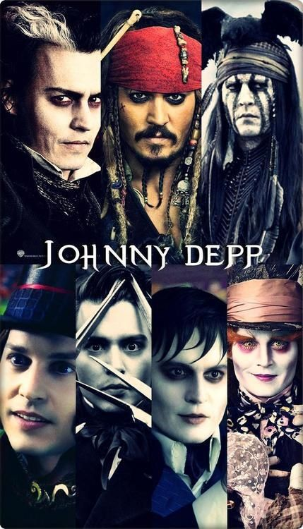 JOHNNY DEPP Sweeney Todd (Sweeney Todd the Demon Barber of Fleet Street, 2007), Captain Jack Sparrow (The Pirates of the Caribbean series, 2003, 2006, 2007 and 2011), Tonto (The Lone Ranger, 2013), Willy Wonka (Charlie and the Chocolate Factory, 2005), Edward Scissorhands (Edward Scissorhands, 1990), Barnabus Collins (Dark Shadows, 2012) and The Mad Hatter (Alice in Wonderland, 2010)