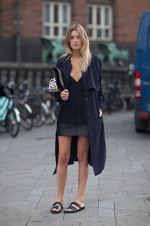 Street Style Copenhagen Fashion Week Spring 2014 - Copenhagen Street Style - Harper's BAZAAR #SuperSlideMe #ZUShoes