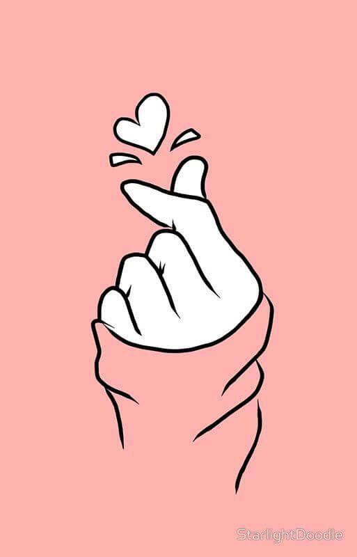 Pin By م ﻼ ڪ ღا ڸـ ـبڕې On رسوم Pink Wallpaper Kpop Wallpaper Heart Drawing