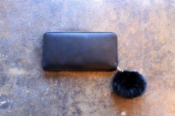 Love Fuzz Wallet - Black