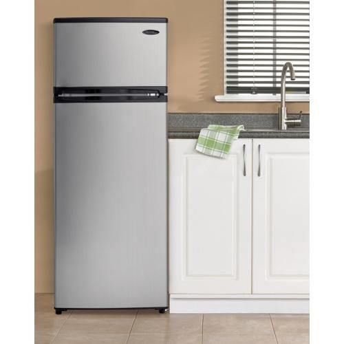 10 3 cu ft apartment size top freezer refrigerator top