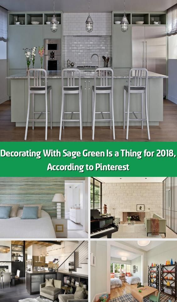 Decorating With Sage Green Is A Thing For 2018 According To Pinterest Pinterest Put Out T In 2020 Green Bathroom Ideas Sage Sage Green Walls Farmhouse Style Kitchen