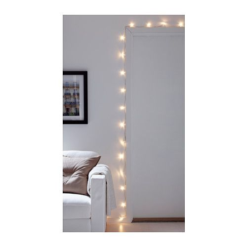s rdal led light chain with 24 lights clear indoor glow christmas time and christmas. Black Bedroom Furniture Sets. Home Design Ideas