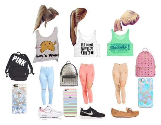 """""""School with your best friends"""" by annabroome on Polyvore featuring beauty, NIKE, UGG Australia, Victoria's Secret, MCM and Casetify"""